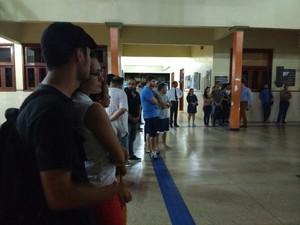 Homenagens, amapá, Macapá, professor, ueap, acidente, maranhão, (Foto: Fabiana Figueiredo/G1)