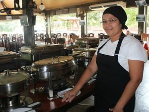 Restaurante quer atrair turistas durante a Copa (Foto: Camila Henriques/G1 AM)