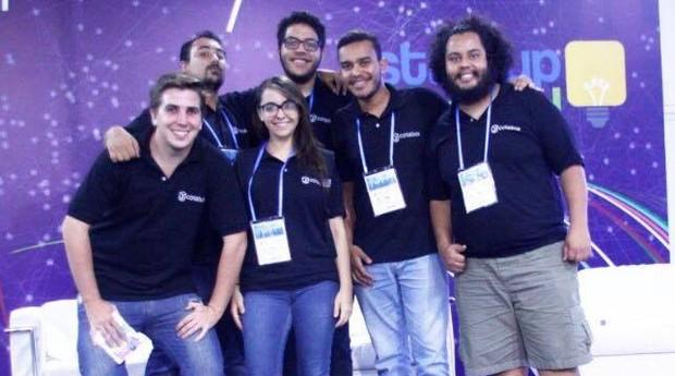 Equipe da Cotabox durante apresentação na Feira do Empreendedor (Foto: Divulgação)