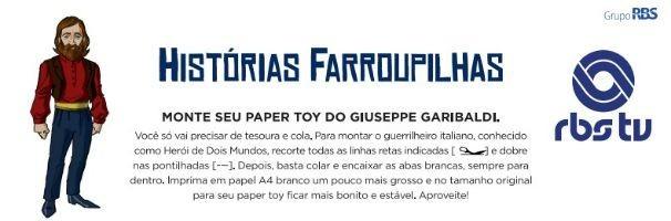 RBS TV disponibiliza paper toys dos personagens das Histórias Farroupilhas (Foto: Divulgação/RBS TV)