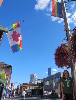 Lili - vôlei de praia - passeio por Toronto - Jogos Pan-Americanos (Foto: Gabriel Fricke/GloboEsporte.com)