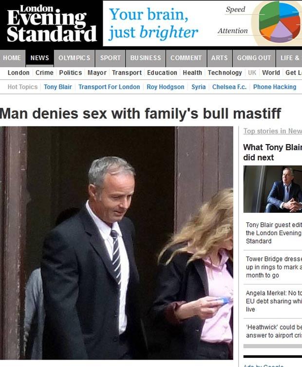 Britânico Nicholas Saunders negou ter feito sexo com a cadela de estimação de sua ex-mulher. (Foto: Reprodução)