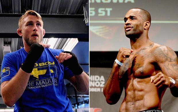 montagem UFC Alexander Gustafsson x Jimi Manuwa (Foto: Editoria de Arte)