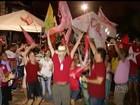 Eleitores do Tocantins vão às ruas e comemoram vitória de Dilma