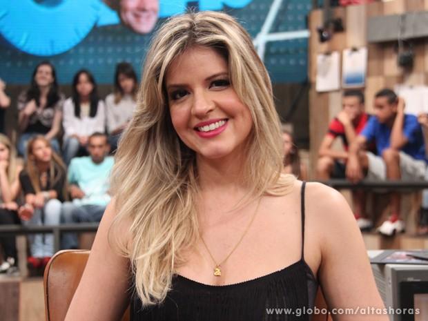 Mariana Santos participa do programa Altas Horas deste sábado (Foto: TV Globo/Altas Horas)