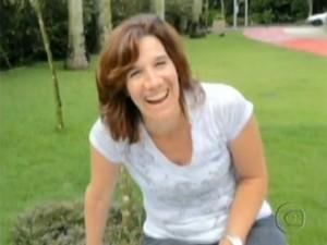 Renee Eliott Murdoch, agredida por um morador de rua (Foto: Reprodução / TV Globo)