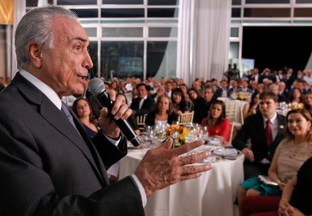 Temer recebe base aliada para jantar no Alvorada (Foto: Beto Barata/PR)