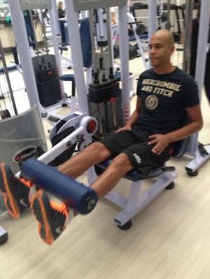 Sem clube,  Alex Silva treina em Amparo,  interior de SP (Foto: Arquivo Pessoal)