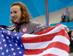 Katie Ledecky natação EUA 800m (Foto: AP)