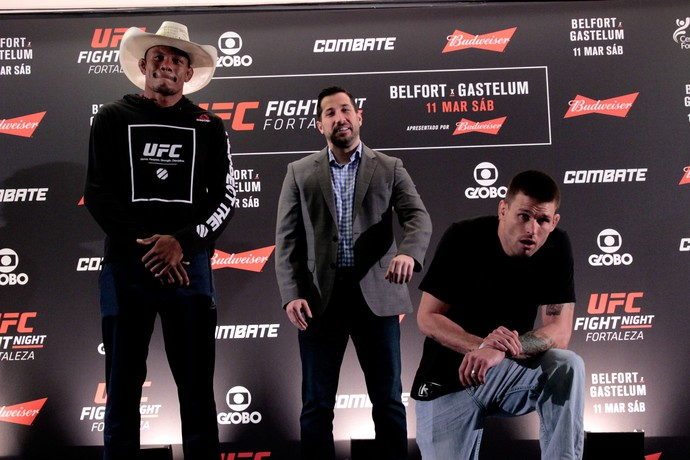 Encaradas do Media Day do UFC Fortaleza  (Foto: Adriano Albuquerque)