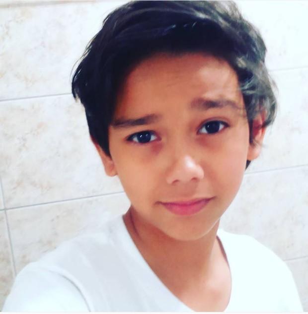 Tobias Carrieres tem 13 anos e faz sua estreia na TV (Foto: Reprodução/Instagram)
