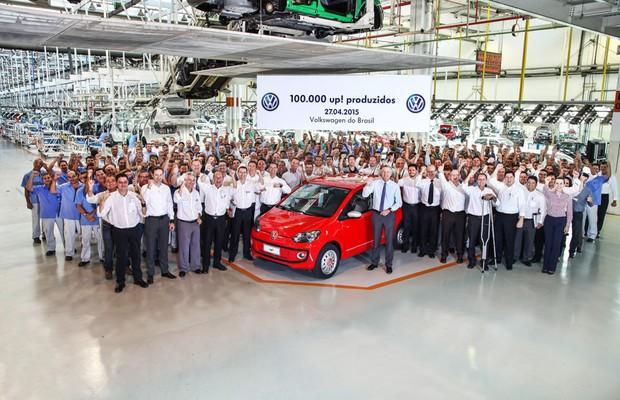 Volkswagen produz 100 mil unidades do up! no Brasil (Foto: Divulgação)