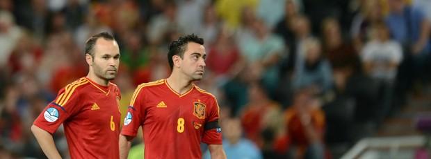 e12c7dd287 Iniesta Xavi Espanha (Foto  AFP)
