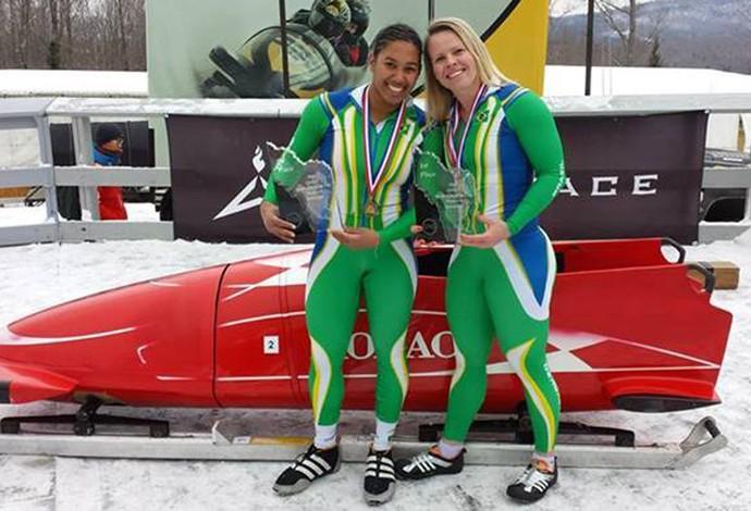 bobsled Brasil Fabiana dos Santos e Sally Mayara (Foto: Reprodução )