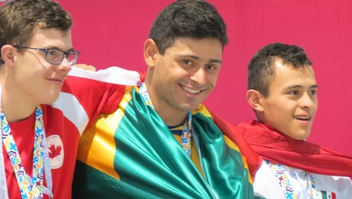 Caíque Aimoré Mundial Natação México (Foto: Arquivo Pessoal / Caiubi Aimoré)