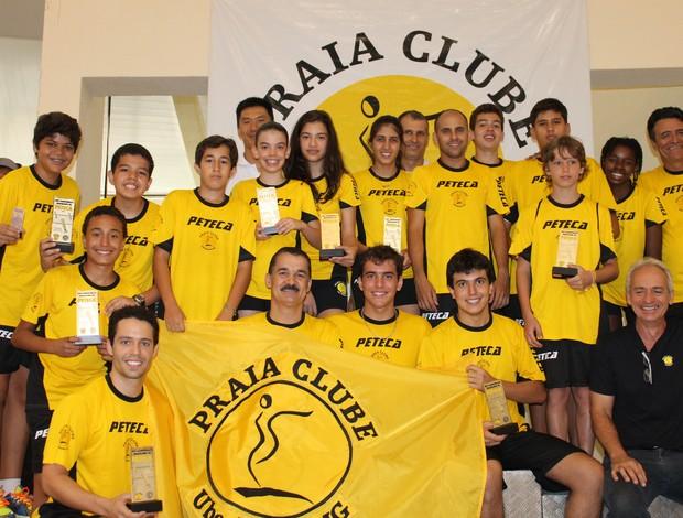 Equipe levou a melhor na maioria das categorias (Foto: Divulgação/Praia Clube)