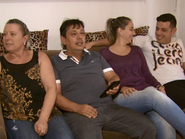 Família Coelho de São João da Boa Vista adora esportes e se prepara para os jogos (Foto: Eder Ribeiro/EPTV)