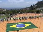 Ato simbólico contra corrupção é feito na zona sul de Belo Horizonte