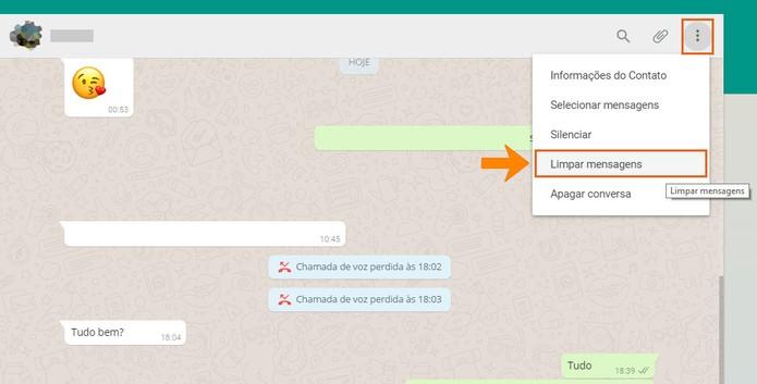 wh03 Como apagar histórico de mensagens de suas conversas no WhatsApp Web