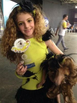 Lorifti consagrou-se tetracampeã na categoria de cão mais parecido com o dono (Foto: Mayara Corrêa/G1)