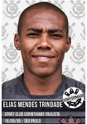 Elias fecha com o Corinthians (Foto: Reprodução/Facebook)