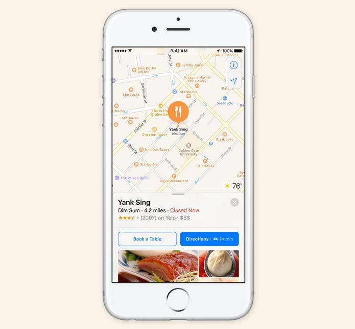 iOS 10 terá aplicativos integrados com o Apple Maps (Foto: Reprodução/Apple)