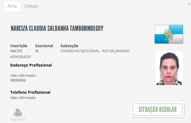 OAB de Narcisa Tamborindeguy (Foto: Reprodução/ site da OAB)