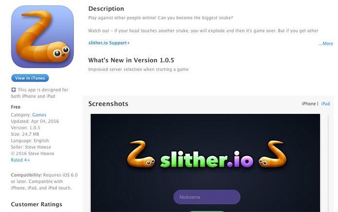 Slither.io no iOS (Foto: Reprodução/Felipe Vinha)