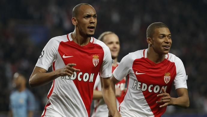 Fabinho Monaco x Manchester City (Foto: Reuters)