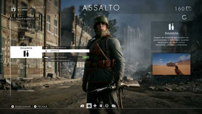 Ajuste sua classe em Battlefield 1 (Foto: Reprodução/Murilo Molina)