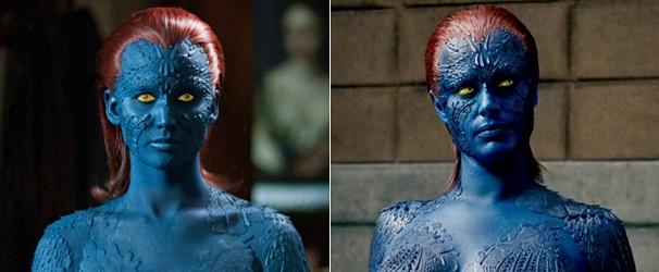 Jennifer Lawrence e Rebecca Romijn como Mística (Foto: Divulgação/Reprodução)