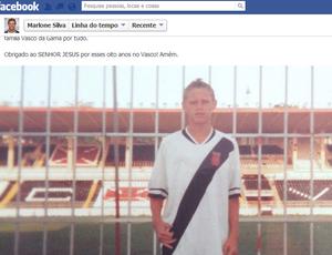 Marlone está no Vasco desde que tinha 13 anos (Foto: Reprodução/Facebook)
