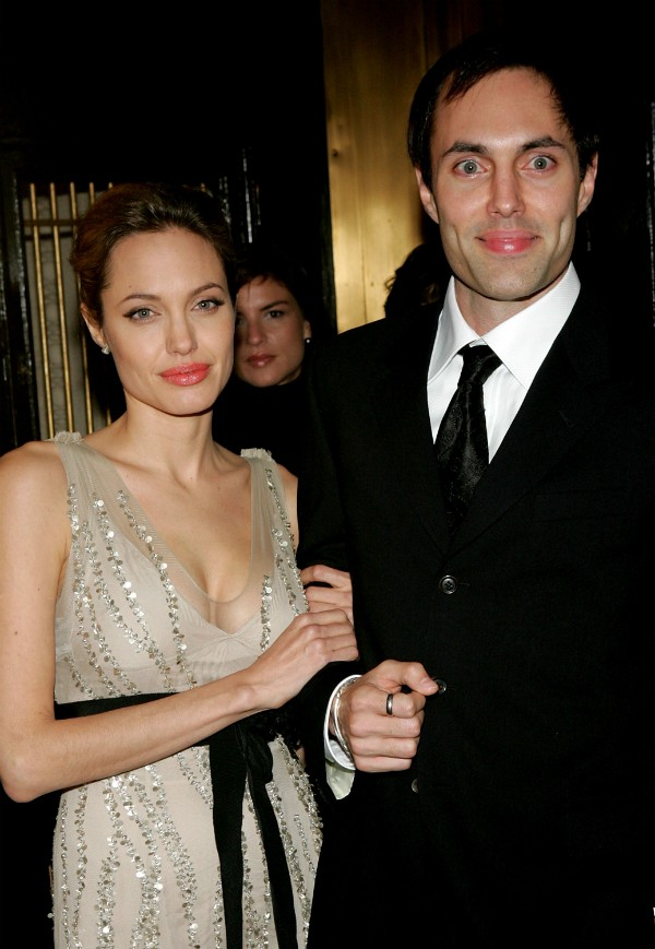 A atriz Angelina Jolie e seu irmão, James Haven (Foto: Getty Images)