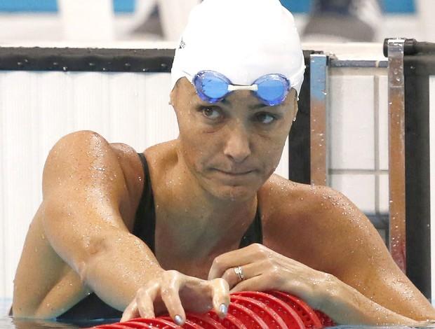 Fabiola Molina na prova de natação em Londres (Foto: EFE)