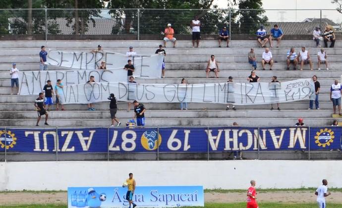 Homenagem torcida São José Stavros Papadopoulos (Foto: Danilo Sardinha/ GloboEsporte.com)