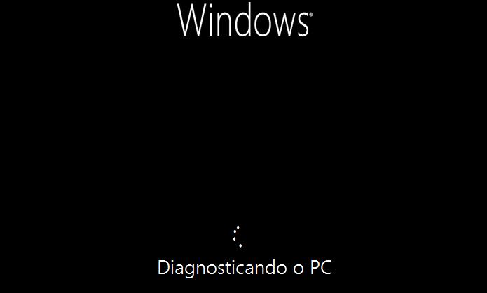 Reparação do Windows 8 em andamento(Foto: Reprodução/Edivaldo Brito)