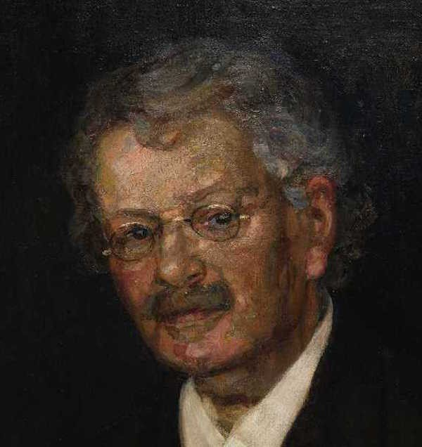 Retrato do economista sueco Knut Wicksell