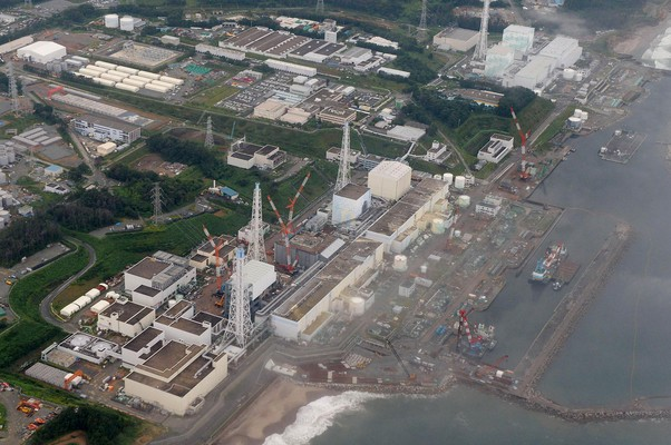 Vista aérea da usina nuclear de Fukushima, no Japão (Foto: Kyodo News/AP)