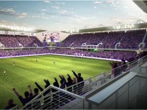 Maquete do novo estádio do Orlando, que deverá custar US$ 155 milhões  (Foto: Orlando City)