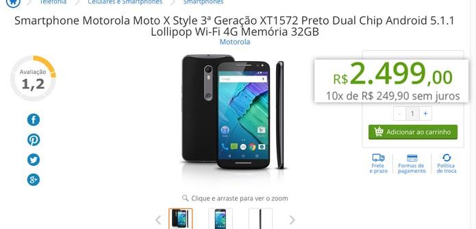 Moto X Style: Especificações + Preços R$