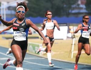 Rosângela Santos - ouro nos 100m rasos Troféu Brasil