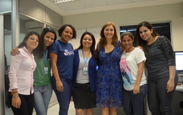 Cristina Serra visitou a redação da TV Roraima na manhã desta terça-feira (30) (Foto: Bruna Alves/TV Roraima)