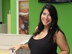 Veja fotos de Priscila na redação do EGO