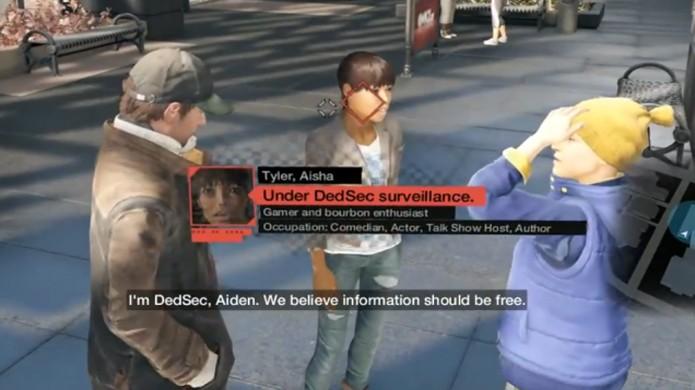 Ao apresentar as conferências da E3 da Ubisoft, Aisha Tyler garantiu seu papel no jogo (Foto: Kotaku)