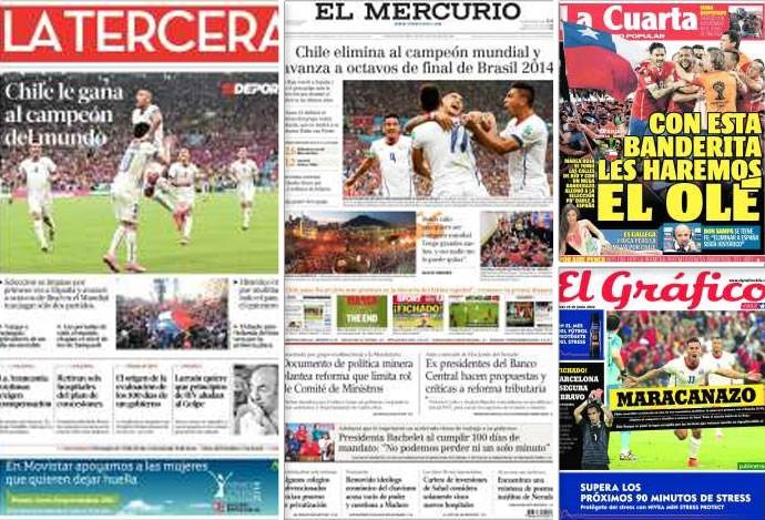 Montagem - capas revistas chilenas (Foto: Editoria de Arte)