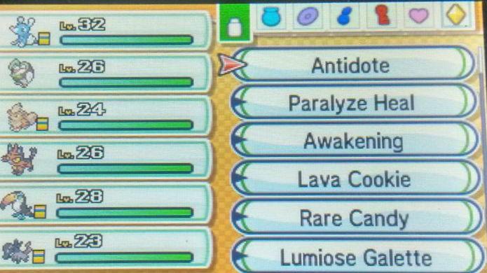 Pokémon Sun e Moon: Administre bem os seus itens (Foto: Reprodução / Thomas Schulze)