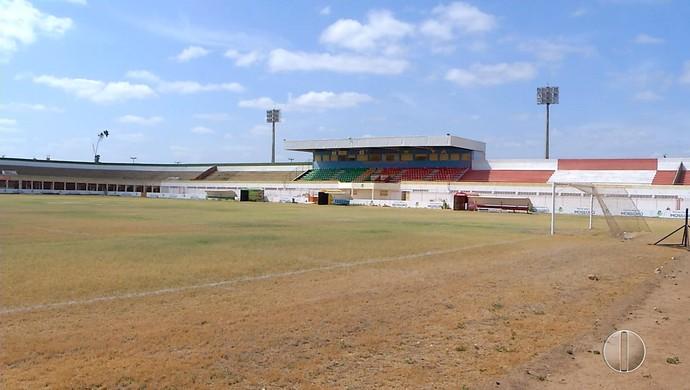 RN - Estádio Nogueirão, em Mossoró (Foto: Reprodução/Inter TV Cabugi)