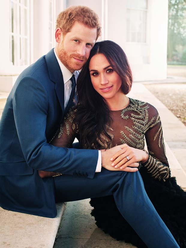 Príncipe Harry e Meghan Markle nas fotos oficiais do noivado (Foto: Alexi Lubomirski / Getty Images)