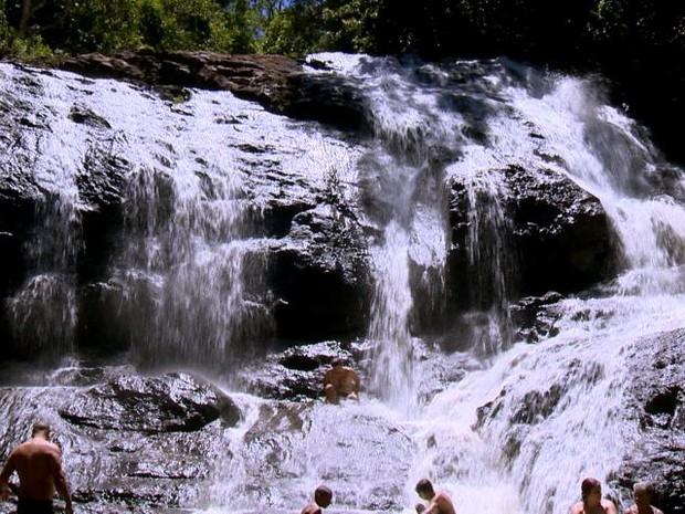 Cachoeira do Turco, em Buenos Aires (Foto: Reprodução/ TV Gazeta)