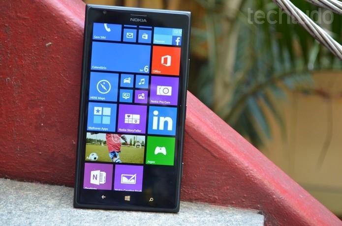 O Lumia 1520 será um dos aparelhos mais beneficiados com o Denim (Foto: Luciana Maline/TechTudo) (Foto: O Lumia 1520 será um dos aparelhos mais beneficiados com o Denim (Foto: Luciana Maline/TechTudo))